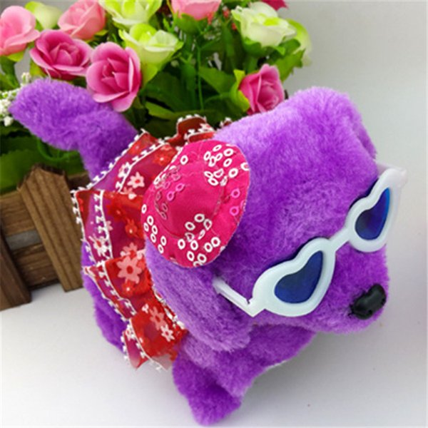 The new plush toy dog will call bright forward, backward dog, electric children's toys sell wholesale