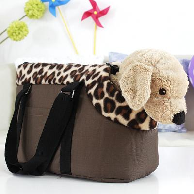 pet bag dog carrier Small medium big dog bag ,travel carrying bag for dogs and cats leopard print pink