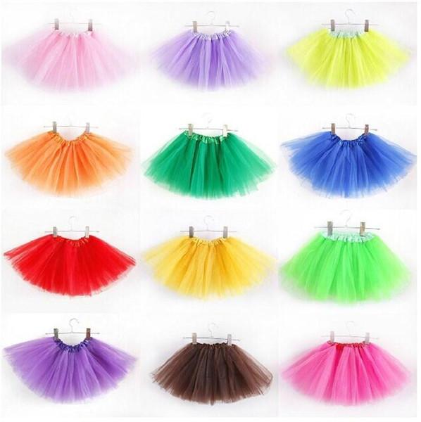 Baby TuTu Skirts Pettiskirt Girls For Kids Chiffon Ruffles Tutu