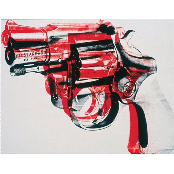 Hand painted Abstract oil painting Gun black and red on white modern art for wall decor living room decor
