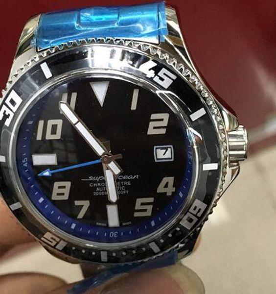 Специальные Продажи Брэл Марка Автоматические Часы Мужчины Silve Case Черный Циферблат Из Нержавеющей Группа Супер Океан Механические Casaul Часы Montre Homme