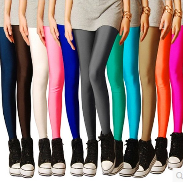 CN-RUBR Brand Sexy Solid Candy Neon Plus Size Women's Leggings High Stretched Jeggings Fitness Clothing Ballet Dancing Pant