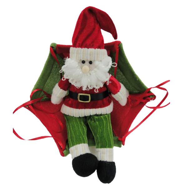 Die neuen Weihnachtscharme-Dekorationen für Hauptfallschirm-Weihnachtsmann-Weihnachtsschneemann verziert Festival-Geschenk 0013