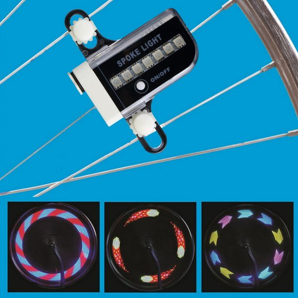 New 14 LED Motorcycle Cycling Bicycle Bike Wheel Signal Tire Spoke Light 30 Changes new arrival