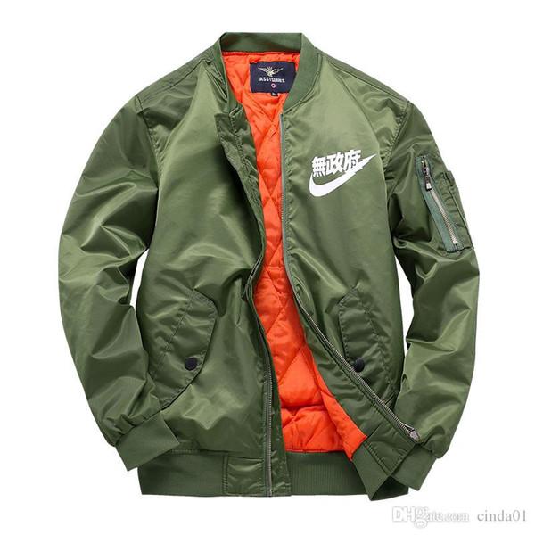 uk availability limited price low price Wholesale New MA1 Pilot Jackets Kanji Black Green Flight Japanese MERCH  BOMBER MA 1 Coats Jackets Male Clothing Outwears Overcoats Men Mens Jakets  ...