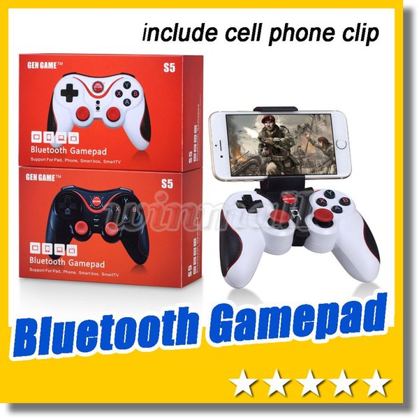 DHL 100pcs Wireless Bluetooth Joystick Gamepad Gaming Controller Remote Control for Android/iPhone iCade Games PC Holder Included