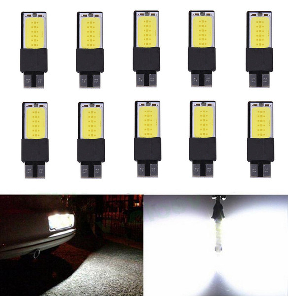 best selling 10-Pack Canbus T10 LED COB Interior Bulb Light 194 168 W5W Side Parking Backup Fog Plate License Brake Lamps Auto No Error COB car light 12V