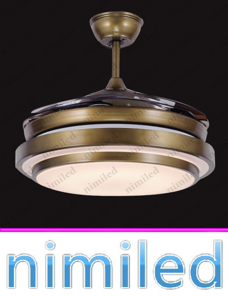 "best selling nimi929 36"" 42"" Ceiling Fan Lights Restaurant Chandelier Lamp Living Room European-style Retro Minimalist Light Pendant Lamps Acrylic Blades"