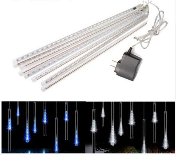 Weihnachten LED Meteorschauer Regen Rohre Licht 30cm 50cm 8 Rohr 100 ~ 240V EU US Stecker Weihnachten Urlaub String Licht Regentropfen Lampe + Netzteil