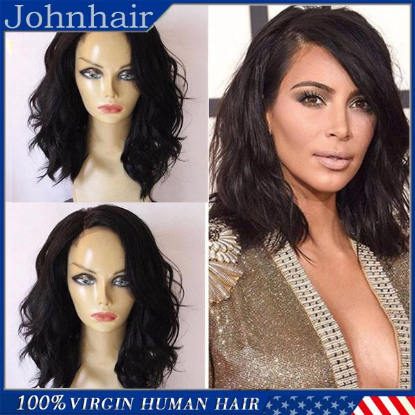 Hot Sale Human Hair Lace Front Wigs Black Women / Peruvian Full Lace Wig Natural Wave Unprocessed Virgin Short Wigs With Baby Hair 8A