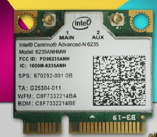Wholesale- New WiFi + Bluetooth 4.0 for Dual-band Intel Centrino Advanced-N 6235 6235ANHMW Half MINI Wireless Card SPS 670292-001