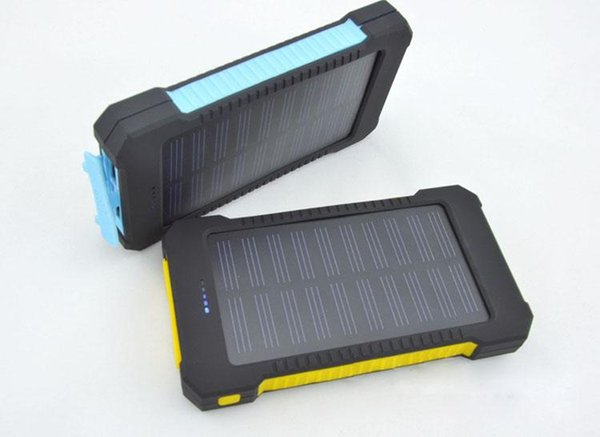 20000mAh Solar Charger 2 USB Port Solar Power Bank Charger External Backup Battery With Retail Box For iPhone Samsung cellphone charger