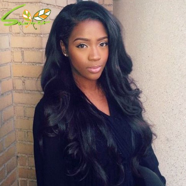 Virgin Brazilian Human Hair Lace Front Wigs Middle Part Body Wave Full Lace Human Hair Wig Grade 8A Glueless Front Lace Wigs