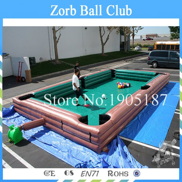 Free Shipping New Style Game Inflatable Billiard Snookball Playground Football Inflatable Billiard Soccer Ball Table With Air Blower