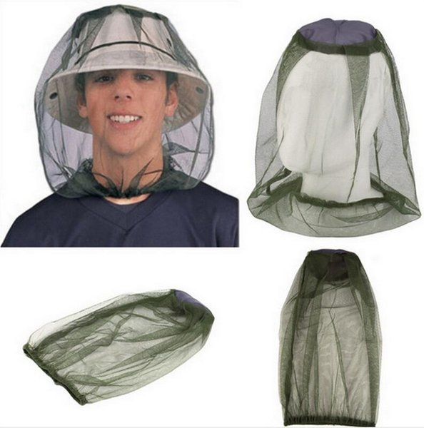 Wholesale Midge Mosquito Insect Hat Bug Mesh Head Net Face Protector Travel Kits Camping Hiking Outdoor Gear Tool