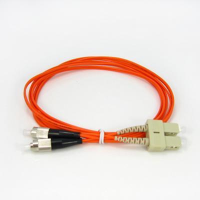 SC-FC 2.0mm Multi Mode Duplex Optical Fiber Patch Cord PVC - 1M/3M/5M/10M/15M/20M