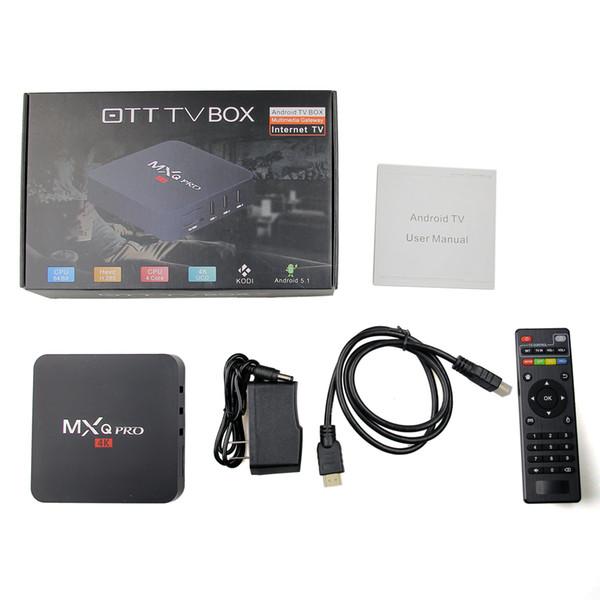 MXQ Pro 4k RK3229 Quad Core Android 7.1 4K Smart TV BOX Smart TV BOX abonnement iptv subscription