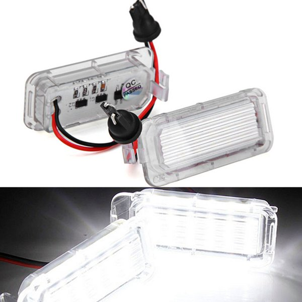 2Pcs Error Free 18 LED License Number Plate Light Lamps Car Bulbs Lights fit for Ford Fiesta Focus Kuga C-MAX Mondeo