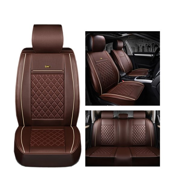 best selling ( Front + Rear ) Luxury Leather car seat cover For Hyundai ix35 i30 ix25 Elantra tucson Sonata auto accessories car styling