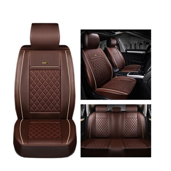 (Frente + Traseira) Tampa de assento de couro de luxo para Hyundai ix35 i30 ix25 Elantra tucson Sonata auto acessórios para carro styling