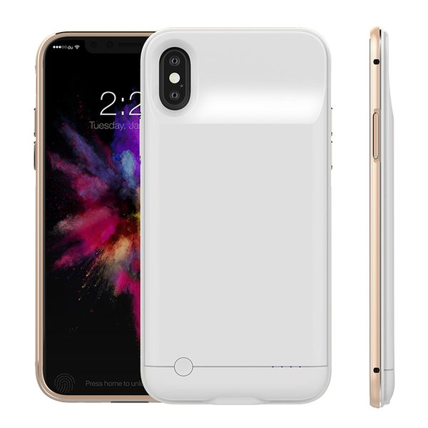 4000Mah 5000Mah Power Bank Charger Case Cover Backup Battery Case Meatal Border for iPhone 6 Plus 7 Plus iPhone X with Package
