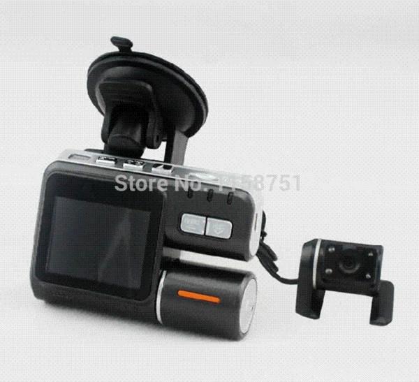 Hot Camcorder i1000 Car DVR Dual Camera HD 1080P Allwinner Dash Cam Black Box With Rear 2 Cam Vehicle View Dashboard Cameras