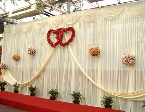 Wedding 3mx6m Backdrop Purple Stage Background With Beautiful Swag Wedding Drape And Curtain Wedding Stage Backdrop Decoration Wedding Decor Ideas