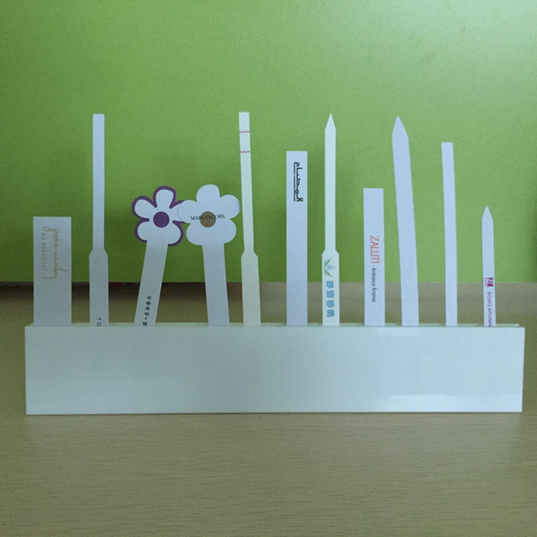 Acheter Acrylique Bouteille Double Test De Parfum De Bouteilles De Papier Blanc Parfum Bande De Détente De Senteurs 24 Trous 2cm De $12.05 Du