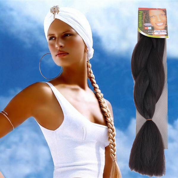 100G/PCS OMBRE Jumbo BRAIDS SYNTHETIC braiding hair synthetic two tone color JUMBO BRAIDS extension cheveux 24inch ombre box braids hair