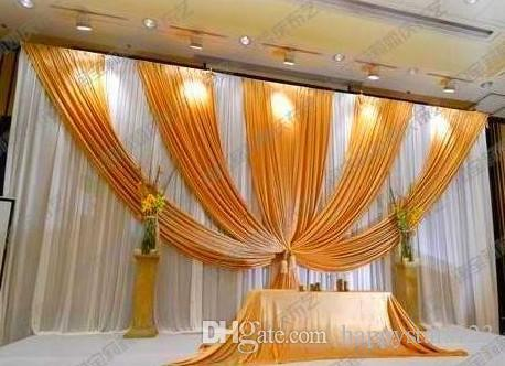 3m*6m Fabric Ice Silk Drape Curtain Wedding Backdrop Decoration with Swag Party Stage Celebration Favors 20ft (w) x 10ft (h)