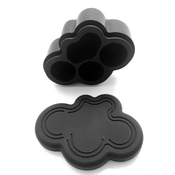 Al por mayor-22 Ml Nueva moda de silicona No Bho Contenedor de cera Multi-compartimiento Concentrado de silicona Aceite Contenedores Slicks 1 Unids / lote