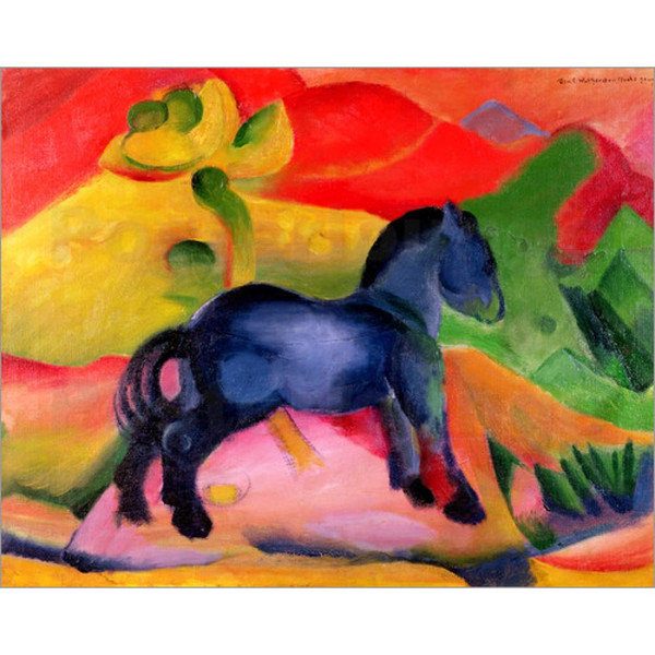 Canvas art Little Blue Horse Franz Marc Paintings oil reproduction High quality Hand Painted