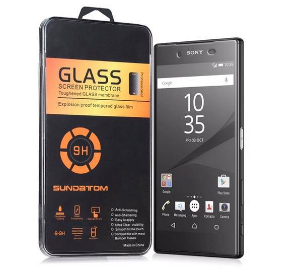 2.5D Anti-explosion Proof Tempered Glass For Sony Xperia T2 Ultra T3 Z Ultra M2 M4 M5 E3 E4 E4G Z5 Screen Protector Film with Package