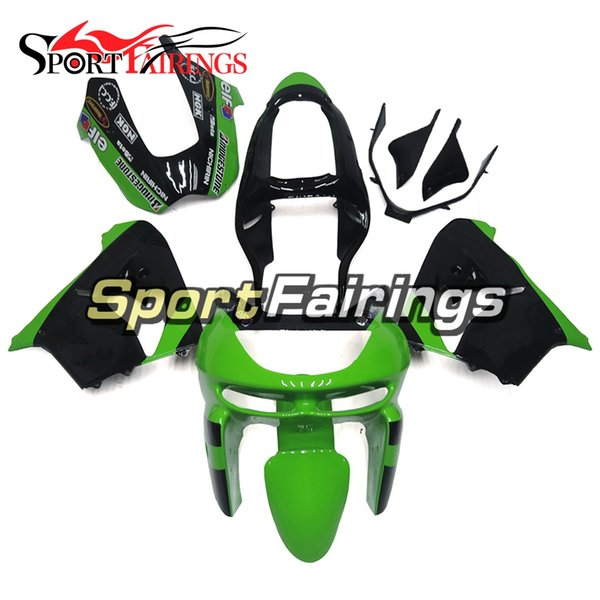 Full Fairings For Kawasaki ZX9R 1998-1999 98-99 ABS Plastic Motorcycle Bodywork Body Kit Cowlings Body Kit Body Frames Green Black