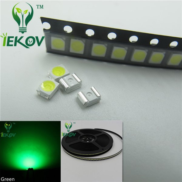 1000pcs 2835 0.2W SMD Green LED Super Bright Light Diode High Quality SMT Chip lamp beads Suitable for bicycle and Car DIY