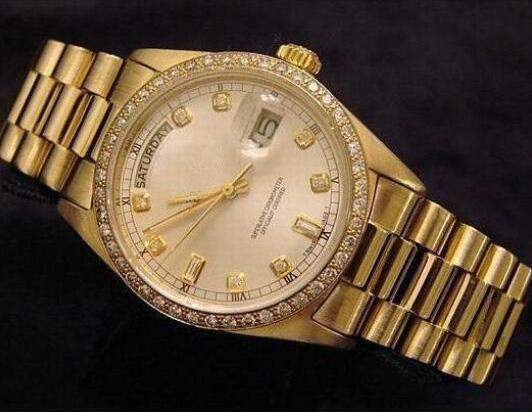 Homens de Luxo Da Marca de Diamante De Ouro Bezel Relógios Dia Data Presidente Relógio De Aço Inoxidável Dial Mens Swiss Automatic Mecânica Relógios De Pulso Caixa