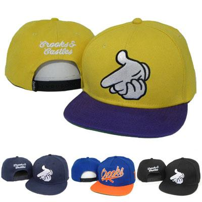 New 2016 retail Crooks & Castles Snapback Cap Hip-hop Men Women Snapbacks Adjustable Hats Baseball Sports Team Caps Cheap Sale