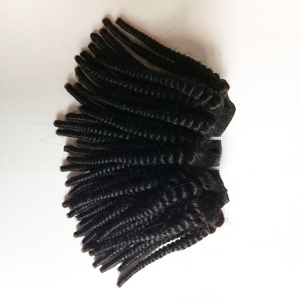 Black woman Unprocessed Malaysian Brazilian Virgin human hair extensions new style Kinky Curly 50g/pc 6pc 300g/lot Indian remy Hair DHgate