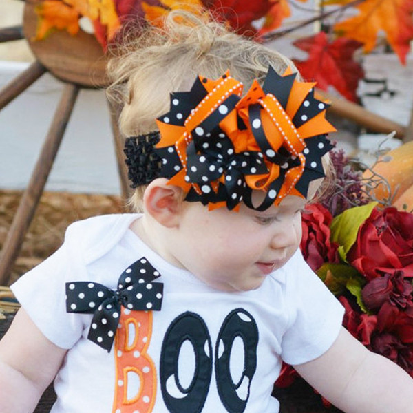 Halloween Infant Hairbands Baby Girl Cute Hair Hoops Bow Tie Hair Clips Photography Props Bow Headbands Headwear for Kids