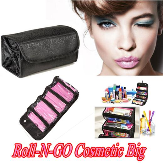Roll-N-Go makeup capacity of Cosmetic Bag Large Capacity Multifunctional Storage Bag Rolls Up For Easy Travel beautician functional bag