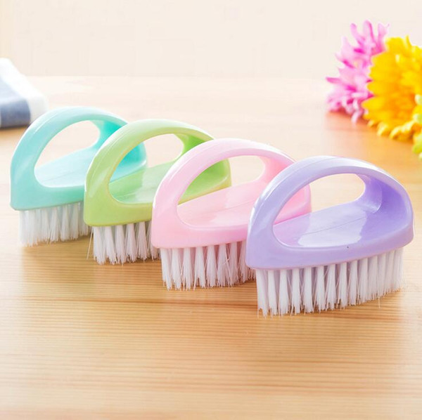 4 colors hand-held multi-purpose plastic washing brush clothes shoes brush candy-coloredlaundry cleaning brushes household cleaning tools
