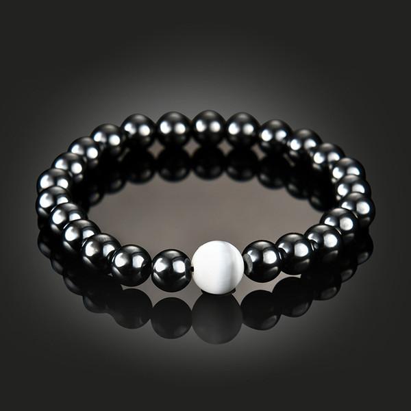 2018 neue magnetische Hämatit Perle Armband Stein Perle String Armband Armreif Manschette für Frauen Männer Power gesunde Modeschmuck 162548
