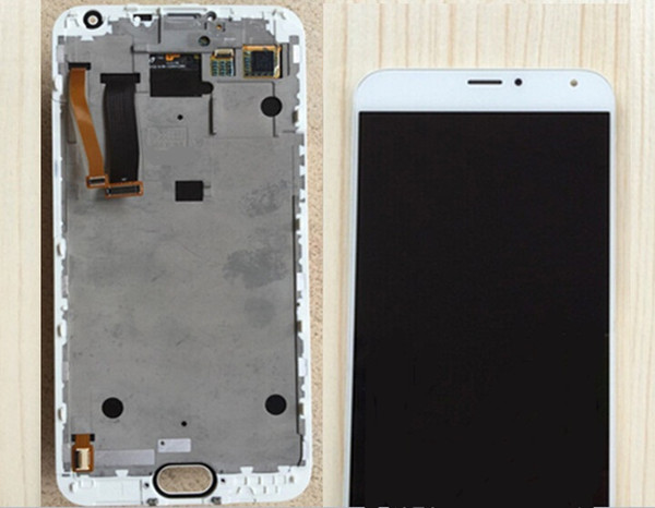 New Lcd For Meizu Mx5 Replacement Screen Display And Touch Digitizer Screen Assembly With Frame WHITE COLOR