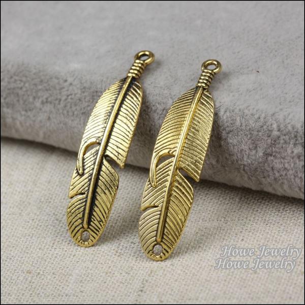 24pcs Vintage Charms Leaves Pendant Antique gold plated Fit Bracelets Necklace DIY Metal Jewelry Making R016