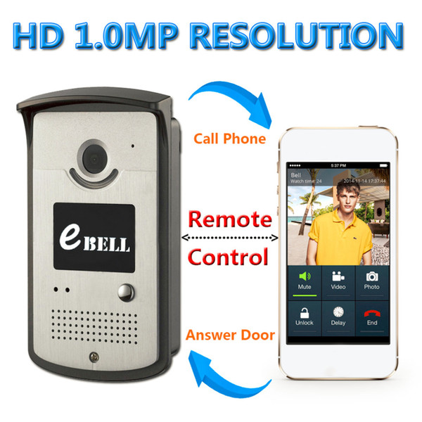 2016 NEW Quality Wireless WiFi Video Doorbell EBELL ATZ-DB003P For iOS And Android Smartphone 174*96*63mm HOT