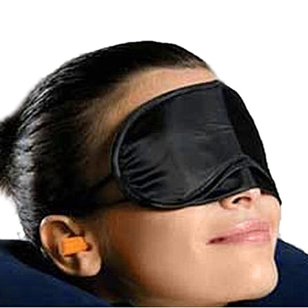 top popular High quality Eye Mask Shade Nap Cover Blindfold Travel Rest Skin Health Care Treatment Black Sleep(0612001) 2019
