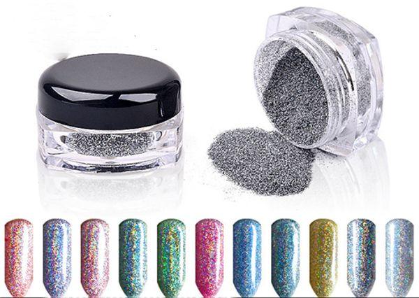 top popular Metallic Mirror Effect Nail Powder Magic Mirror Chrome Effect Dust Shimmer Nail Art Powder Colorful Glitter Mirror Nail Powder Nail Art 2020