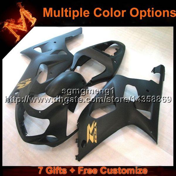 23colors + 8Gifts negro Carenado de la carrocería para Suzuki GSXR 600 750 K1 S10 01 02 03 01-03 01 03 GSXR 600 750
