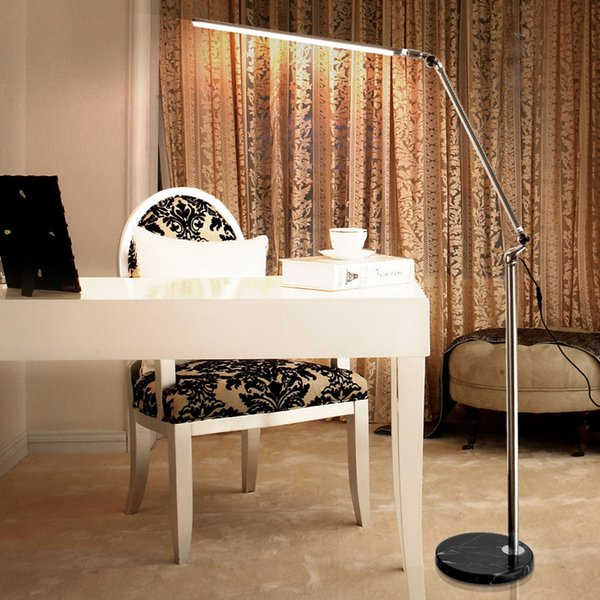 2019 LED Floor Lamp Living Room Swing Arm Adjustable Balcony Reading Light  5000 5500K Floor Standing Lamps With Marble Base Home Decor Lighting From  ...