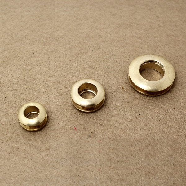 best selling free shipping 10 pieces brass gas hole screw Threaded connection eyelet DIY bag belt part hardware handmade cloth ring buckle hole